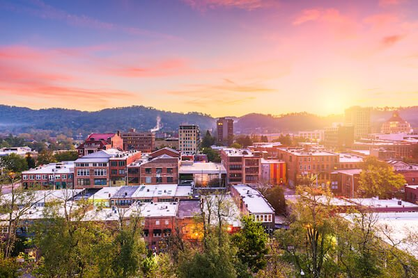 View of Downtown Asheville, NC