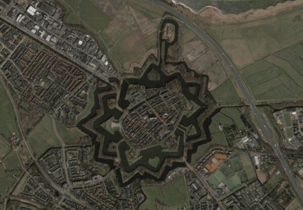 Naarden, The Netherlands Aerial View