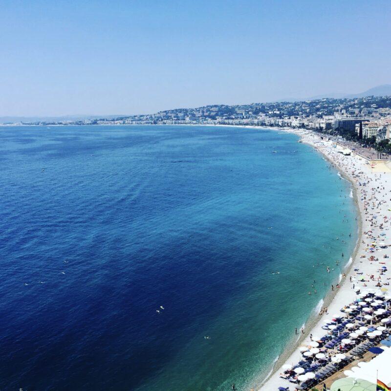 Nice, France Beach Coastline