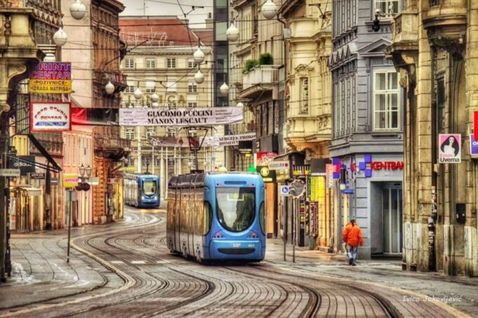 The city's main street full of shops and cafe bars is ideal for shopping during 48 hours in Zagreb