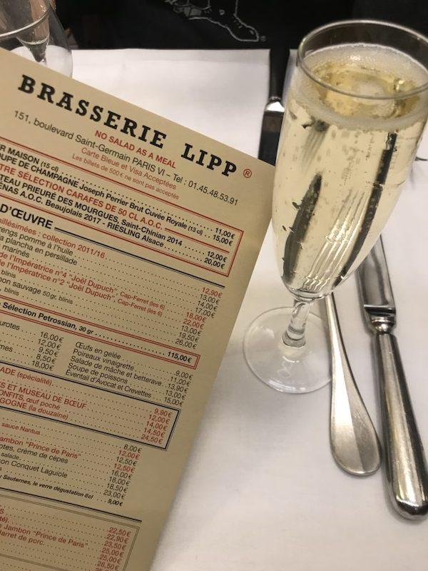 Brasserie Lipp Paris Menu