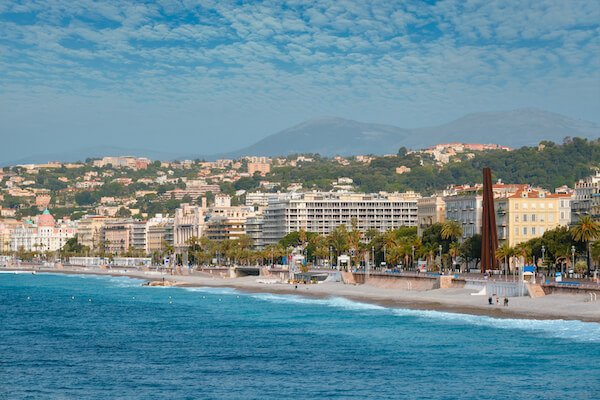 View of Nice France Coast