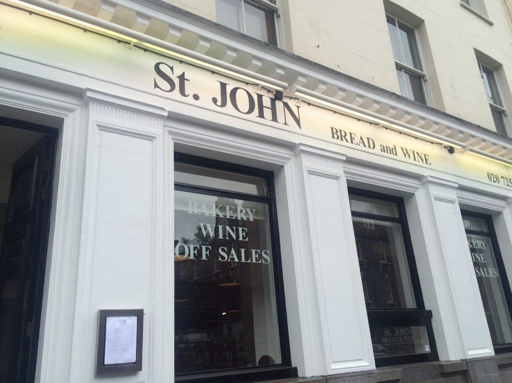 St. John Bread and Wine Restaurant