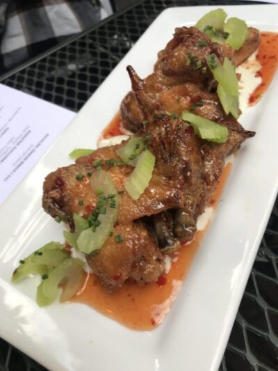 The Bungalow Club chicken wings