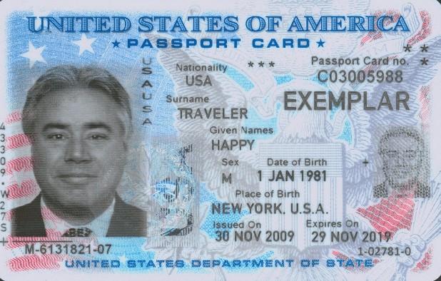 USA Passport Card
