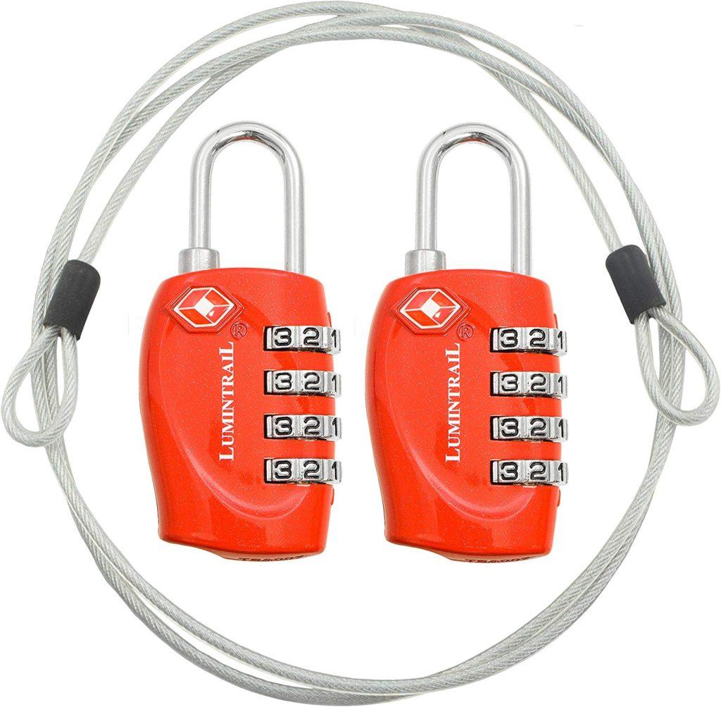 Lumintrail luggage locks