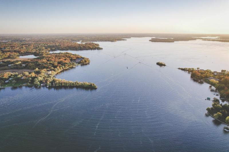 Lake Minnetonka Aerial in Autumn