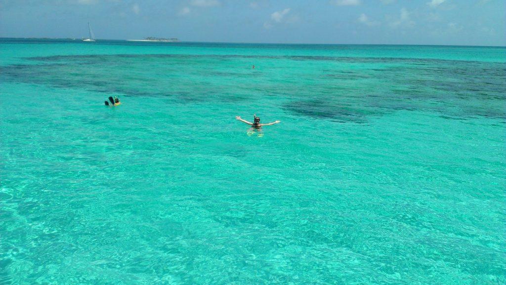 Snorkeling at Rose Island