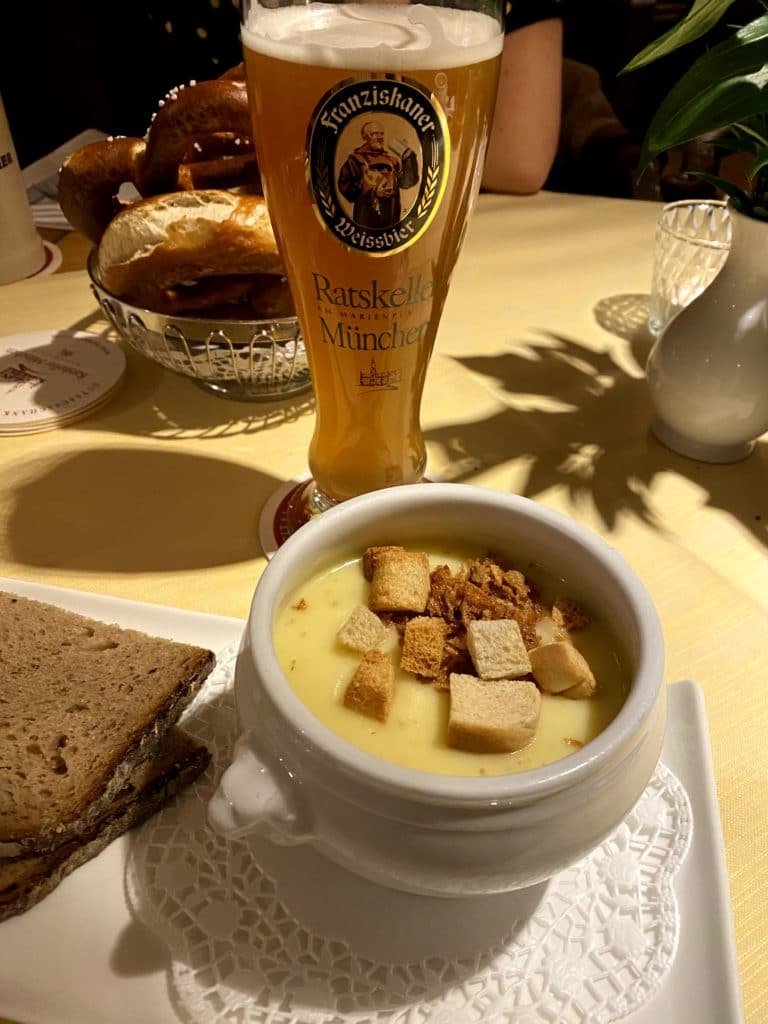 Franziskaner and Potato Soup