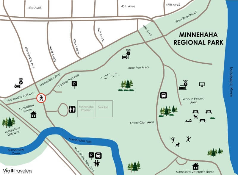 Minnehaha Regional Park Map