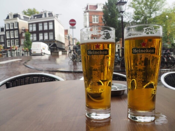 Extra Cold Heineken in an Amsterdam Cafe