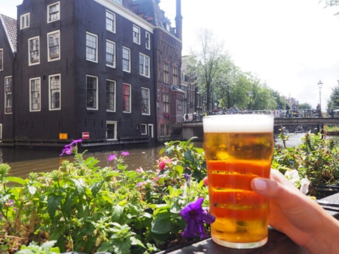 Amstel Beer Along the Canals