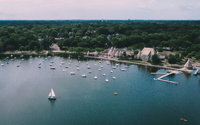 Lake Harriet Bandshell Aerial