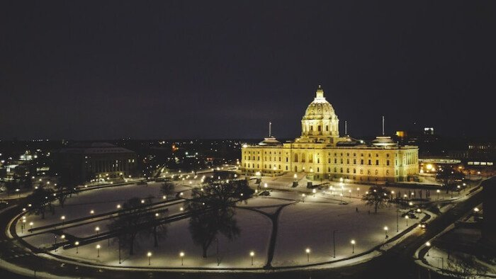 Minnesota State Capitol Building at Night