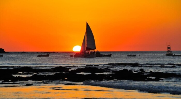 Tamarindo catamaran sunset tour