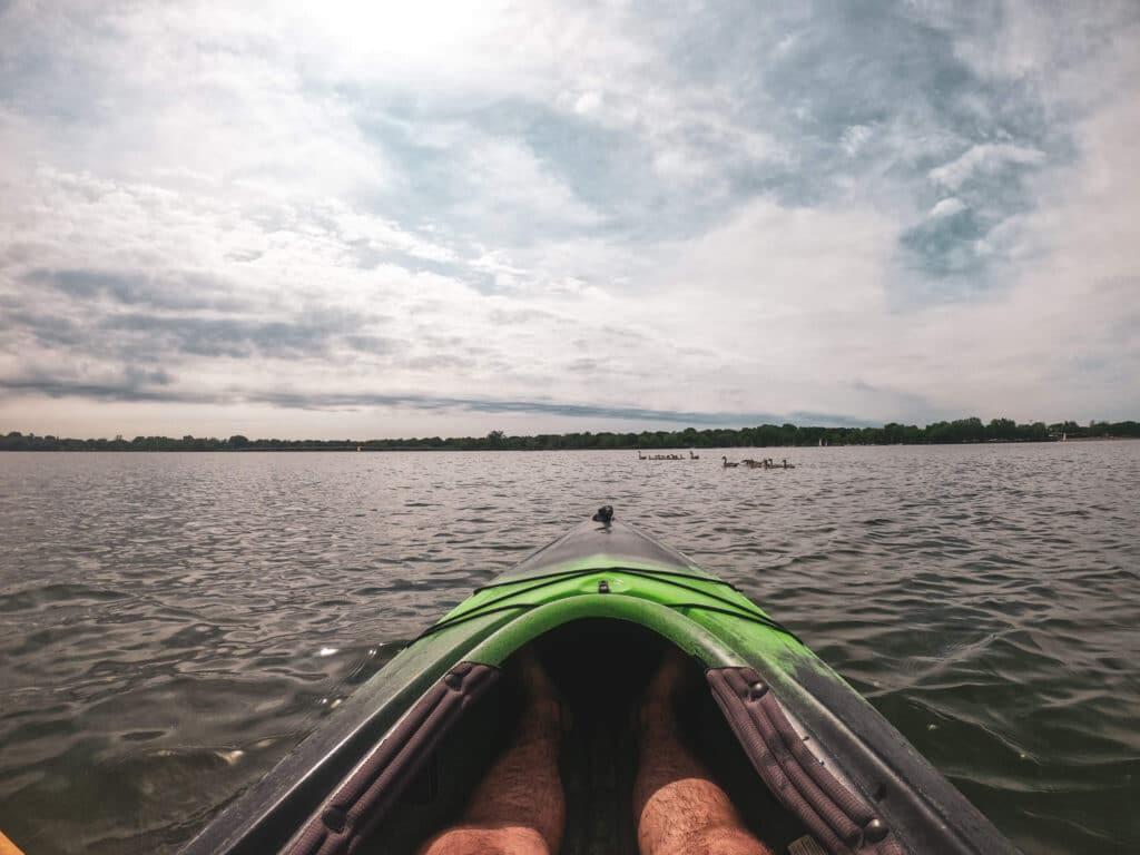 Kayaking on Lake Nokomis