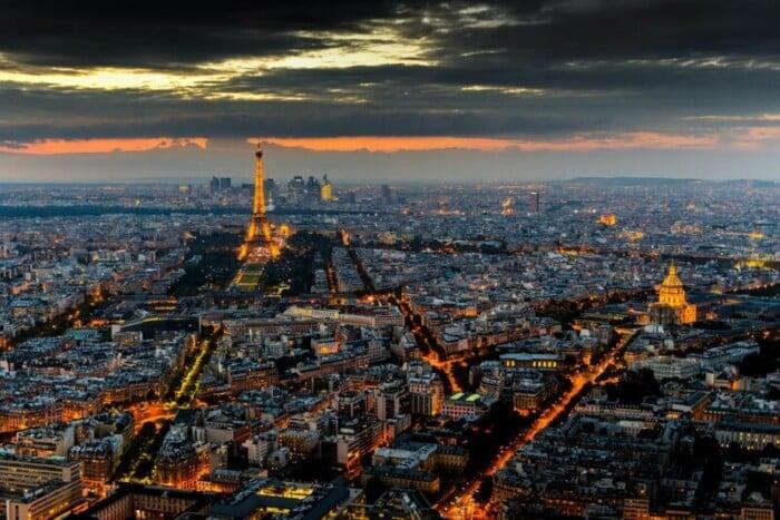 Paris Sunset view