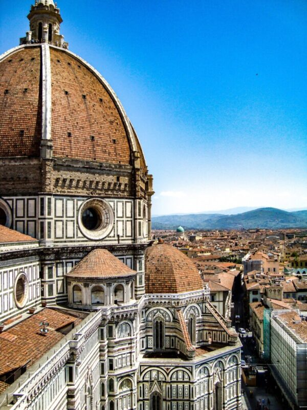 Florence rooftop overlooking other buildings in city
