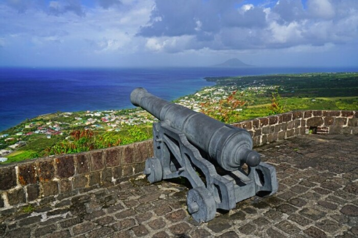 besides the beautiful beaches, Saint Kitts also offers such an amazing view from the Brimstone Hill Fortress National Park