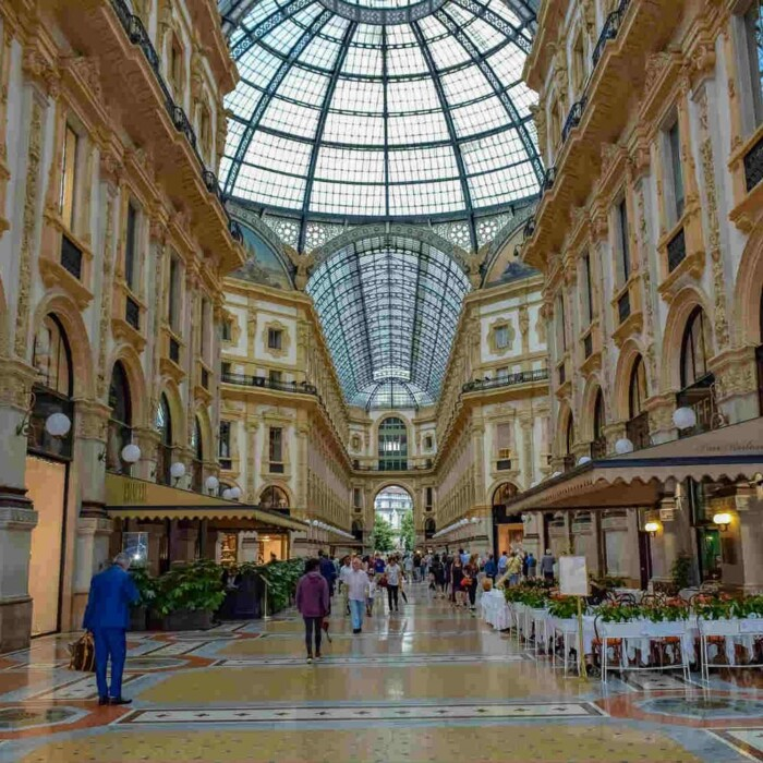 The Galleria Vittorio Emmanuel II in Milan