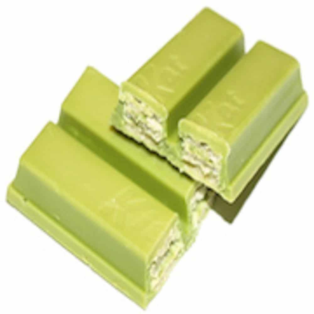 Matcha infused KitKat bars