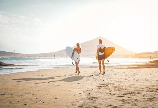 Surfers in Australia