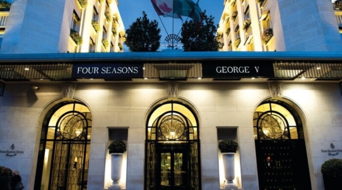 The Art-Deco exterior of the Four Seasons George V