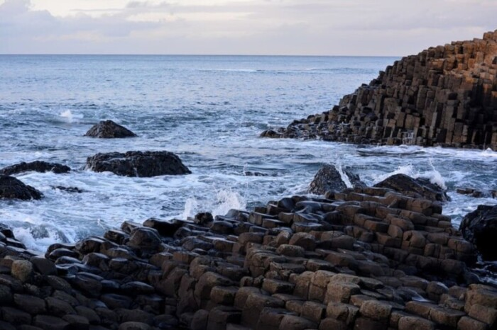 Giant's Causeway's unusual lava rock formations.