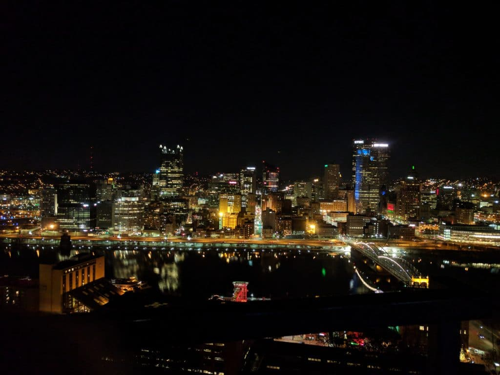 The Pittsburgh Skyline at night