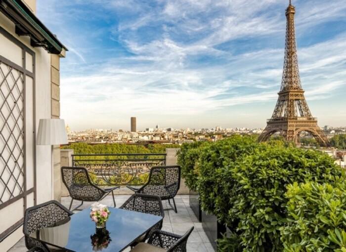 Shangri-La Paris View of Eiffel Tower is the city's best.