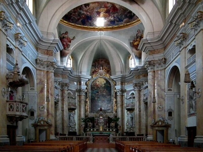 Inside the Muri-Gries Abbey