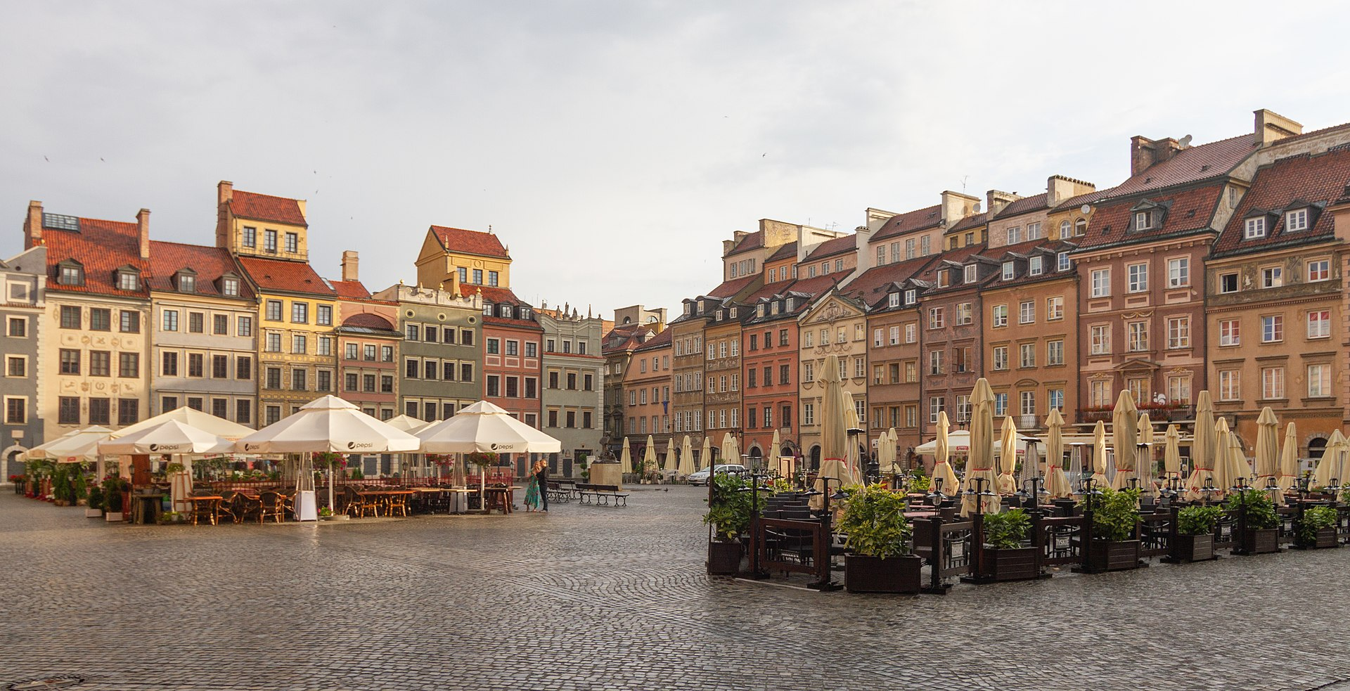 The Old Town of Warsaw, Poland, completely rebuilt after World War II.