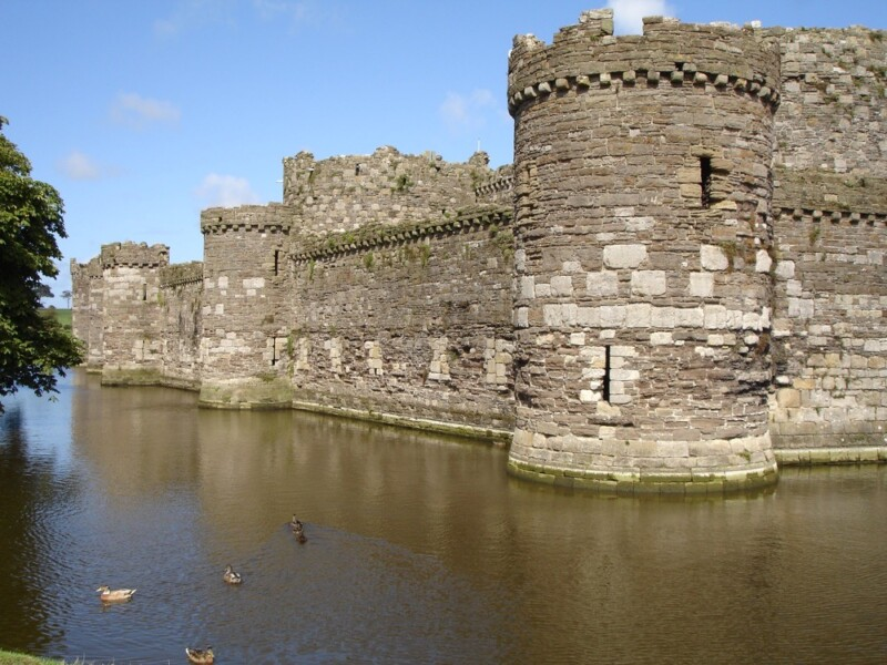Beaumaris Castle and Moat with Ducks