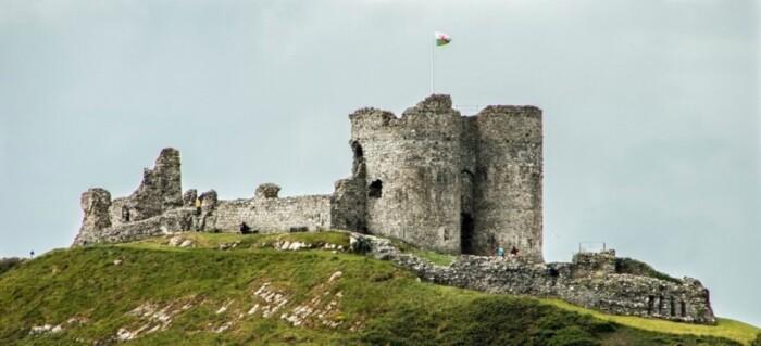 Criccieth Castle Sits Dramatically on a Headland Overlooking Cardiigan Bay