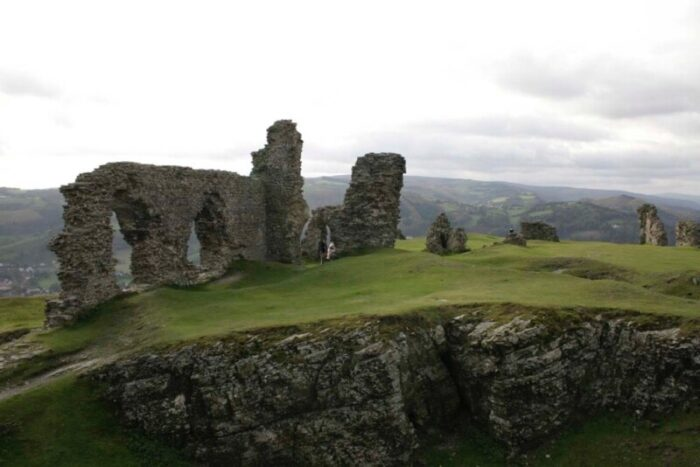 Castell Dinas Bran looking Sout Eastwards from the Keep