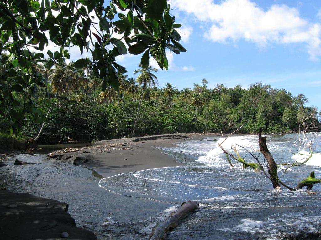 Dark sand in Grenada