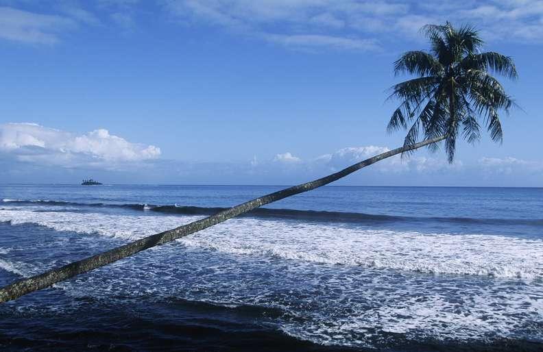 Black Sand Beaches in Tahiti