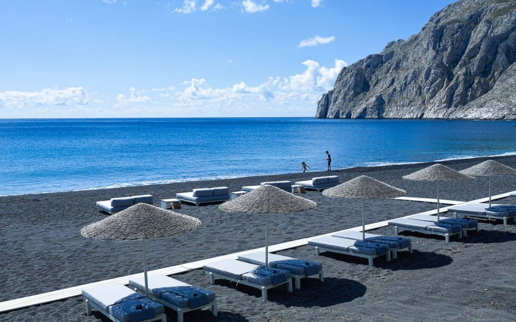 Black Sand Beaches in Greece