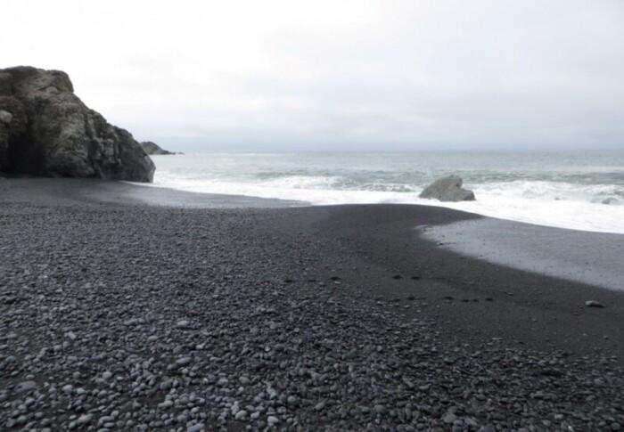 Dark Sand Beaches in California