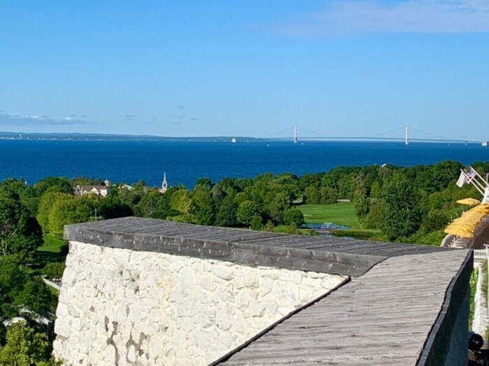 Mackinac Bridge from Fort Mackinac