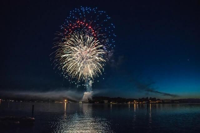 Fireworks at Burlington's City Park