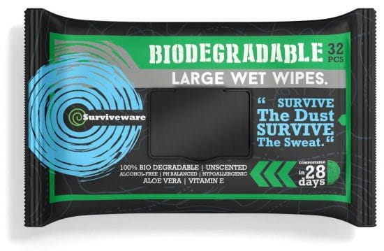 biodegradable anti-bacterial wipes
