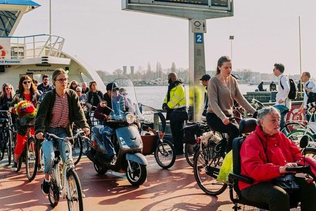 bike riding in Amsterdam