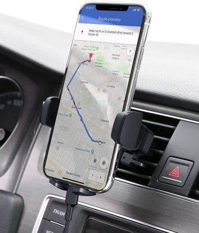 van camping equipment: car phone mount