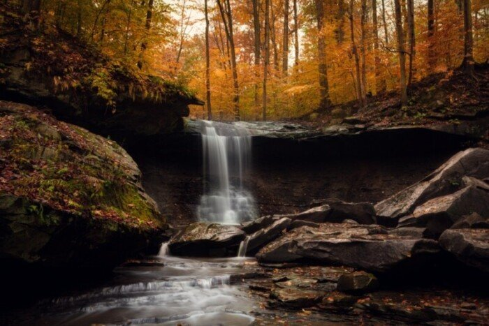 Blue Hen Falls in Cuyahoga Valley National Park, Ohio