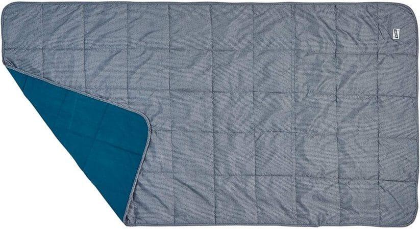 van camping equipment: insulated blanket