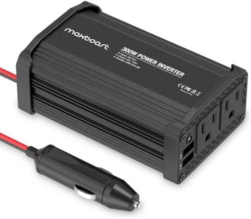 van camping equipment: power inverter