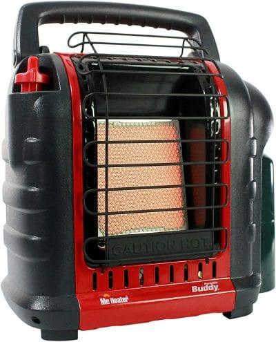 van camping equipment: propane heater