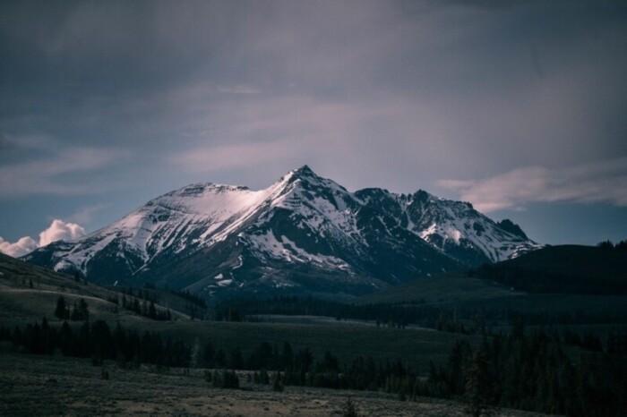 Snowy Rocky Mountain, Colorado
