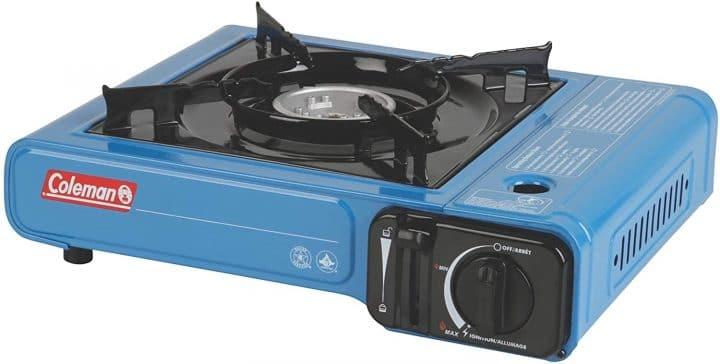 van camping equipment: butane stove